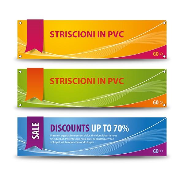 Banner e striscioni in PVC con occhielli